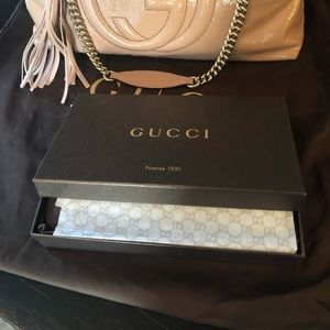 New Gucci Soho Pat. Leather Zip around  Wallet